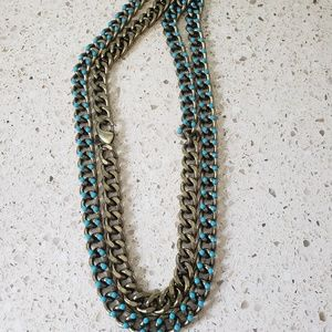 Gold and Turquoise boho necklace